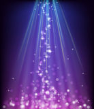 Abstract glowing blue purple background Stock Photography