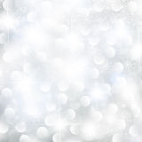 Abstract glowing Christmas background. With snowflakes and stars vector illustration