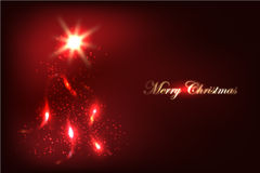 Abstract Glowing Christmas Background Stock Photos