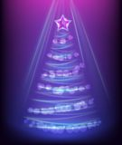 Abstract glowing christmas tree Royalty Free Stock Photography