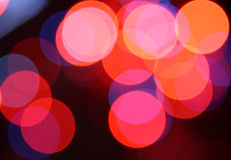 Abstract glowing circles Stock Photo