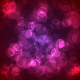 Abstract glowing circles on a colorful background Royalty Free Stock Photo