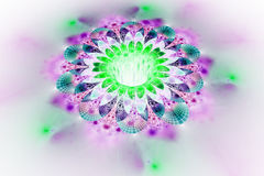 Abstract glowing colorful flower on white background. Royalty Free Stock Photo