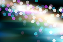 Abstract glowing defocused lights Royalty Free Stock Images