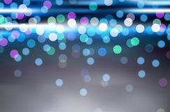 Abstract glowing defocused lights Royalty Free Stock Photography