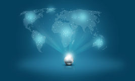 Abstract glowing earth globe Background. Global network internet world and Technology Internet  Concepts Stock Photography