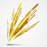 Abstract glowing figure golden Stock Photos