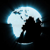 Abstract Glowing Globe Royalty Free Stock Image