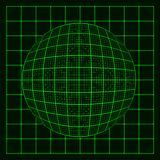Abstract glowing grid on dark background. Royalty Free Stock Photos