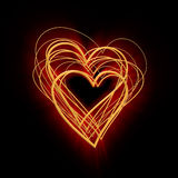 Abstract glowing heart Royalty Free Stock Photos