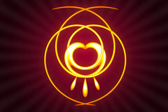 Abstract glowing heart design background Royalty Free Stock Image
