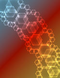 Abstract Glowing Hexagons Background Royalty Free Stock Photography