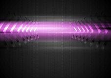 Abstract glowing light with arrows Royalty Free Stock Images