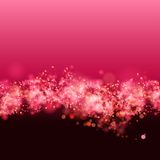 Abstract Glowing Light On A Pink Background Royalty Free Stock Photography