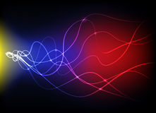 Abstract glowing lights. Abstract lights with colorful lines Royalty Free Illustration