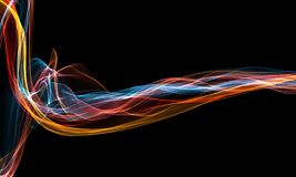 Free Abstract Glowing Lines Background. Wavy Form Neon Line Structure. Sound Wave Rhythm Background. Fire Wave Flames Digital Sound Royalty Free Stock Photo - 218572375