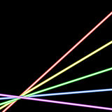 Abstract glowing neon background Stock Photo