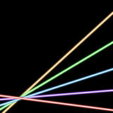 Abstract glowing neon background Stock Photography