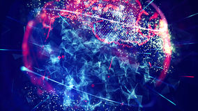 Abstract Glowing Particles Royalty Free Stock Photos