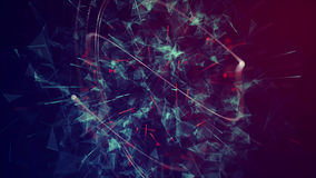 Abstract Glowing Particles Stock Images