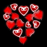 Abstract glowing red heart Stock Photos