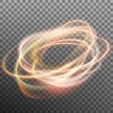 Abstract glowing ring on transparent backfround. EPS 10 vector. Abstract glowing ring on transparent backfround. Light effect fire circle. And also includes EPS Royalty Free Stock Photo