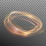 Abstract glowing ring on transparent backfround. EPS 10 vector. Abstract glowing ring on transparent backfround. Light effect fire circle. And also includes EPS Stock Photo