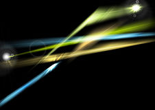 Abstract glowing shiny lights background. Abstract glowing shiny lights graphic design. Colorful luminous vector background Stock Images