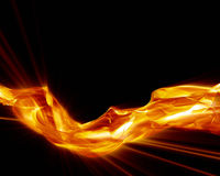 Abstract glowing smoke Royalty Free Stock Images