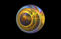 Abstract glowing sphere on black background. Stock Photography