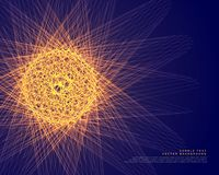 Abstract glowing sphere made with lines background. Illustration Stock Photos