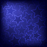 Abstract glowing stars background Royalty Free Stock Photos
