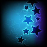 Abstract glowing stars background Stock Image