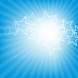 Abstract glowing stars colorful background Royalty Free Stock Images