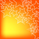 Abstract glowing stars colorful background Stock Photography