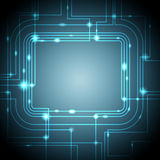 Abstract Glowing Technology Background Stock Photo