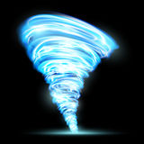 Abstract glowing tornado. Rotating twister. Isolated on a black. Background. Stock  illustration Stock Photos