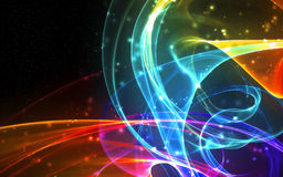 Abstract glowing waves Royalty Free Stock Photography