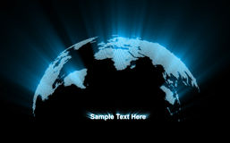 Abstract Glowing World Map. 3d Image royalty free illustration