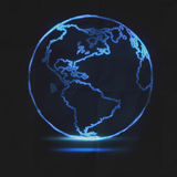 Abstract Glowing World Map Stock Photography