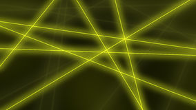 Abstract glowing yellow lines crossings background. 3D rendering Royalty Free Stock Photography
