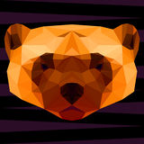 Abstract glutton. Polygonal geometric illustration painted in br Royalty Free Stock Image