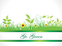 Abstract go green background Stock Images