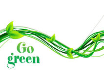Abstract go green background Stock Photo