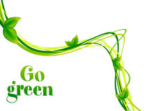 Abstract go green background Stock Photography