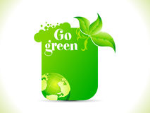 Abstract go green template Stock Photo
