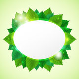 Abstract go green vector illustration with leafs Stock Photo