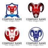 Abstract Goat Capricorn Head Concept Logo Stock Photos