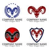 Abstract Goat Capricorn Modern Head Concept Logo Stock Photo