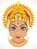Abstract goddess durga face. Vector illustration Stock Image